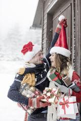 Weihnachten Paar Feiertage