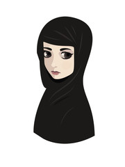 Portrait of muslim beautiful woman in hijab
