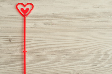 Valentine's Day. A red heart for holding a note