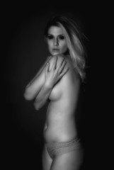 Soft Focus Beautiful Infrared Nude Woman