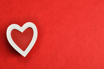 Valentine's Day. Red and white heart