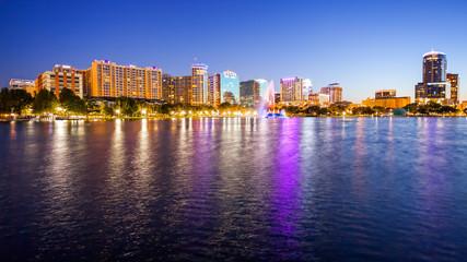 Orlando, Florida Nighttime Cityscape City Skyline