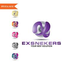 3D Sphere Logo Letter X