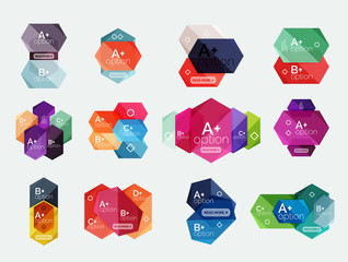 Abstract infographic banners for your content