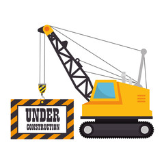 under construction machinery icon vector illustration design