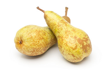 "Two whole, uncut ""abate fetel"" pears"