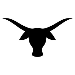 buffalo head. bull logo. cow icon. bison symbol.