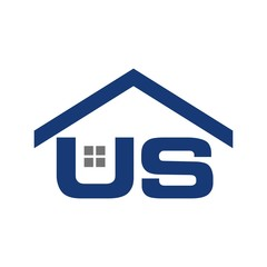 letter U and S logo vector