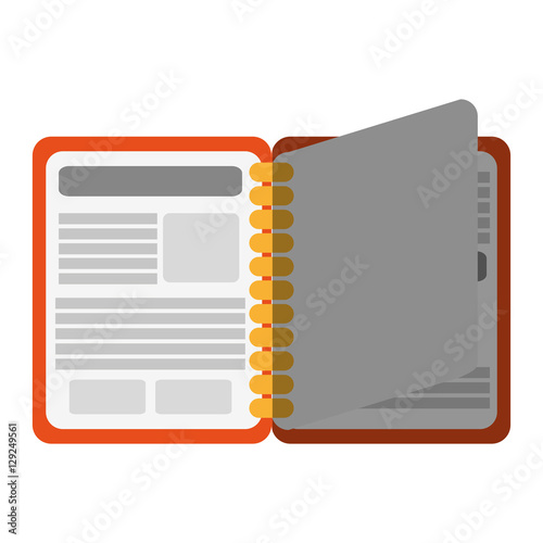 agend icon notebook book directory and information theme isolated