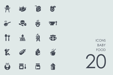 Set of baby food icons