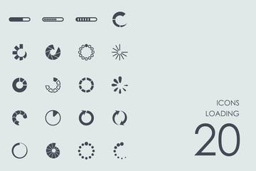 Set of loading icons