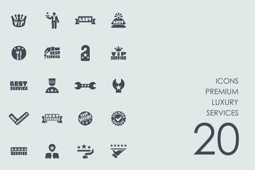 Set of premium luxury services icons