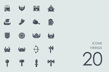 Set of Vikings icons