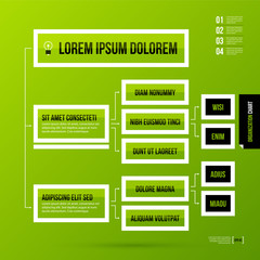 Organization chart template on fresh green background. Vector EPS-10 template.