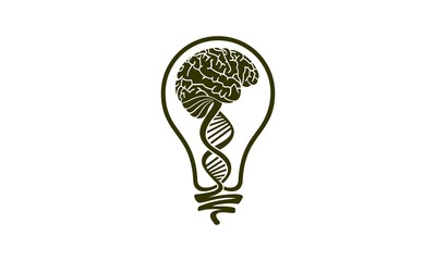 Human brain icon in cartoon style isolated on white background. Human organs symbol stock vector illustration