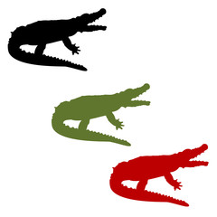 Crocodile vector set