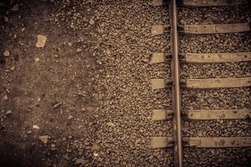 Railway Tracks Close up
