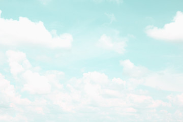 Clouds on sky - Vintage effect style pictures