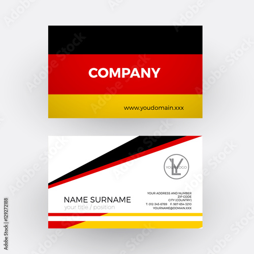 vector abstract german flag professional business card for germ stock image and royalty free. Black Bedroom Furniture Sets. Home Design Ideas