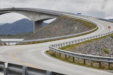 Norway. Atlantic ocean road. Bridge over the ocean. Travel europ