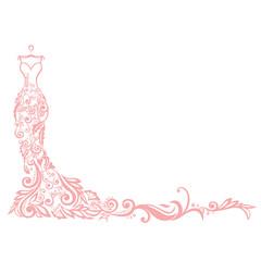 Dress Boutique Illustration Vector Logo Design Template