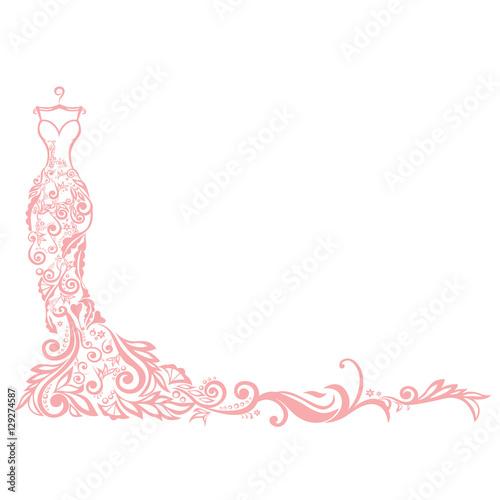 Dress boutique illustration vector logo design template stock image dress boutique illustration vector logo design template maxwellsz