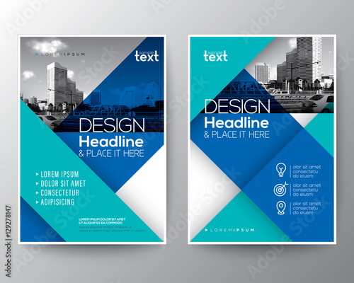 quot blue diagonal line brochure annual report cover flyer corporate flyer design vector free download Free Vector Badges