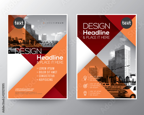 Blue Diagonal Line Brochure Annual Report Cover Flyer Poster Design Layout Vector Template In A4 Size Stock Image And Royalty Free Files On