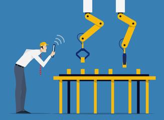 Factory Automation Concept.