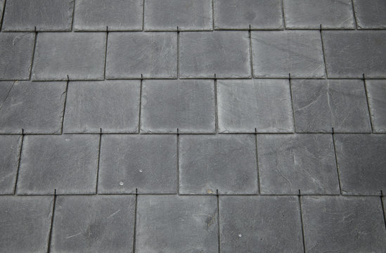 A whole page of slate roof tile background texture