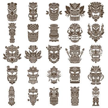 Tiki Head Design Set