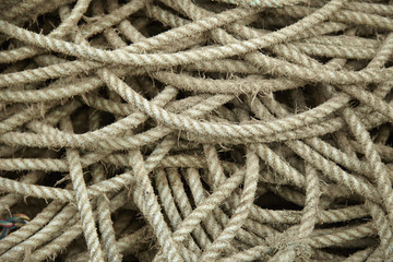 A full page of tangled fishing rope background texture