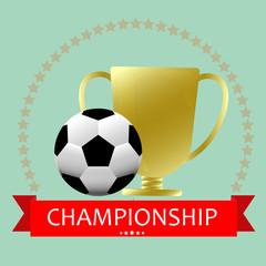Soccer football medal championship