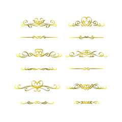 Calligraphic frame golden set
