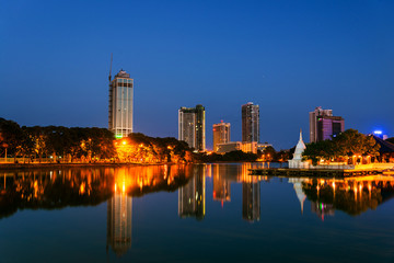 Sri Lanka. View of Beira Lake in Colombo