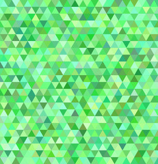 Green regular triangle mosaic background design