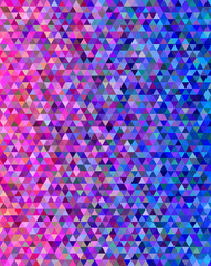 Pink and blue abstract triangle pattern