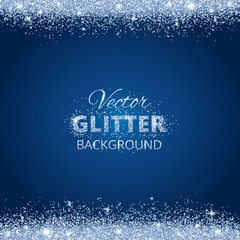 Shiny background with glitter frame and space for text