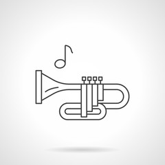 Brass wind tune flat line vector icon