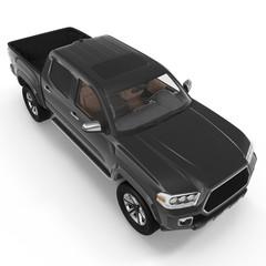 Pickup Truck on white. 3D illustration