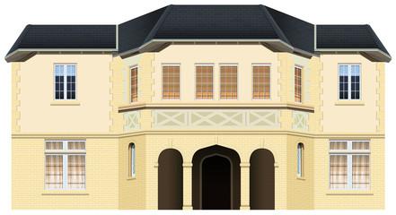 Luxury house with many windows