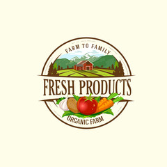 Organic & farm-vector labels and elements