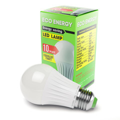 Energy savings modern LED lamp in cardboard box