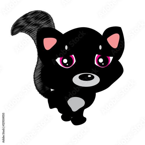 Emoji Character Cartoon Black Cat Sad And Frustrated Sticker