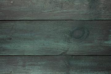 Dark green wooden boards background texture, horizontal frame