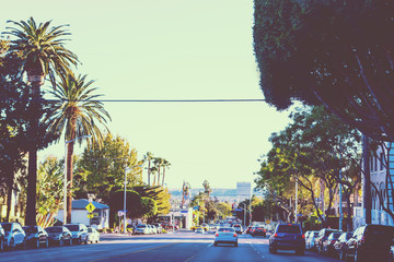 Beverly Hills in vintage tone effect
