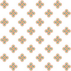 seamless pattern of infinite loops in rainbow colours on a white background (seamless texture)