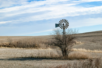 Classic Weather Vane on the Spring Prairie