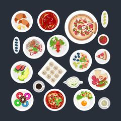 Food Set Top View