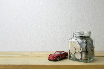 Savings plans for car ,financial concept